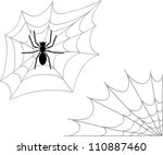 spider and two types of cobweb  ... | Shutterstock .eps vector #110887460