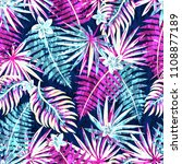 seamless exotic pattern with... | Shutterstock .eps vector #1108877189
