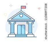 bank  institution building... | Shutterstock .eps vector #1108897208