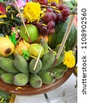 buddha and hindu fruits and...   Shutterstock . vector #1108902560