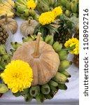 buddha and hindu fruits and...   Shutterstock . vector #1108902716