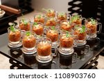 eggplant appetizer in small... | Shutterstock . vector #1108903760