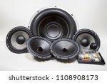 car audio system | Shutterstock . vector #1108908173