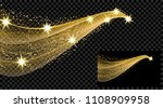 two gold waves with a glitter...   Shutterstock . vector #1108909958