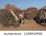 dwellings and villages of... | Shutterstock . vector #1108910900