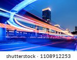motion speed effect with city...   Shutterstock . vector #1108912253