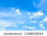 sky blue or azure sky summer... | Shutterstock . vector #1108918964