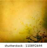 Fresh wildflowers over colorful background. Spring or summer floral background - stock photo