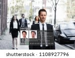 Small photo of Portrait Of A Young Businessman's Face Recognized Accurately With Intellectual Learning System
