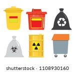 garbage container. a bucket  a... | Shutterstock .eps vector #1108930160