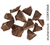 chocolate pieces isolated on... | Shutterstock . vector #110893868