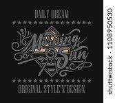 vintage label concept. vector... | Shutterstock .eps vector #1108950530