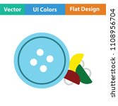 sewing buttons icon. flat color ... | Shutterstock .eps vector #1108956704