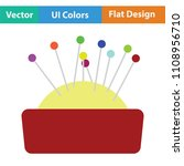 pin cushion icon. flat color... | Shutterstock .eps vector #1108956710