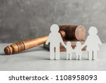 Family Figure And Gavel On...