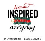 inspire slogan with pin on... | Shutterstock .eps vector #1108960253