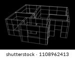 abstract architecture building. ... | Shutterstock .eps vector #1108962413