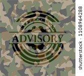 advisory on camouflaged pattern | Shutterstock .eps vector #1108964288