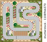speedway. board game. view from ... | Shutterstock . vector #1108966370