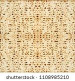 traditional jewish matzoth... | Shutterstock . vector #1108985210