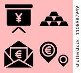 business icons set of thumbtack ... | Shutterstock .eps vector #1108987949