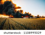 Firefighters Battle With Huge...