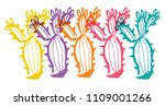 cute rainbow color set... | Shutterstock .eps vector #1109001266