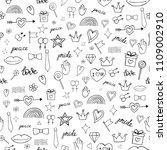 abstract doodles seamless...   Shutterstock . vector #1109002910