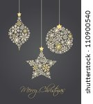 christmas ornaments made from... | Shutterstock .eps vector #110900540