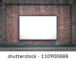 one blank billboard attached to ...   Shutterstock . vector #110900888
