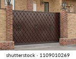Beautiful Forged Gates In A...