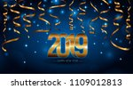 2019 happy new year background... | Shutterstock .eps vector #1109012813