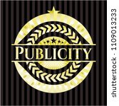 publicity gold shiny badge | Shutterstock .eps vector #1109013233