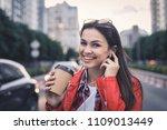 beautiful smiling young woman... | Shutterstock . vector #1109013449