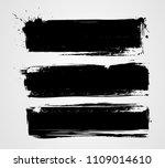 set of three black grunge...   Shutterstock . vector #1109014610