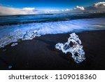 ice blocks in diamond beach... | Shutterstock . vector #1109018360