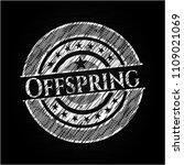 offspring chalkboard emblem...   Shutterstock .eps vector #1109021069