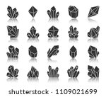 crystal silhouette icons set.... | Shutterstock .eps vector #1109021699