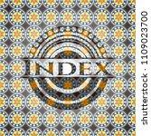 index arabic badge. arabesque... | Shutterstock .eps vector #1109023700
