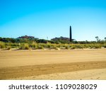 gava in barcelona beach at... | Shutterstock . vector #1109028029