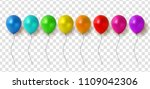 glossy balloons on transparent... | Shutterstock .eps vector #1109042306