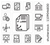 set of 13 simple editable icons ... | Shutterstock .eps vector #1109046830