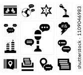 set of 13 simple editable icons ... | Shutterstock .eps vector #1109046983