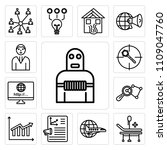 set of 13 simple editable icons ... | Shutterstock .eps vector #1109047760