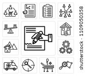 set of 13 simple editable icons ... | Shutterstock .eps vector #1109050358