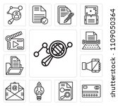set of 13 simple editable icons ... | Shutterstock .eps vector #1109050364