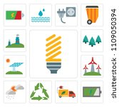 set of 13 simple editable icons ... | Shutterstock .eps vector #1109050394