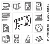 set of 13 simple editable icons ... | Shutterstock .eps vector #1109050568
