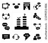 set of 13 simple editable icons ... | Shutterstock .eps vector #1109051486