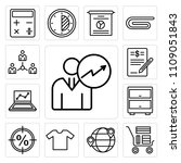 set of 13 simple editable icons ... | Shutterstock .eps vector #1109051843